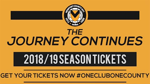 2018/19 Season Tickets